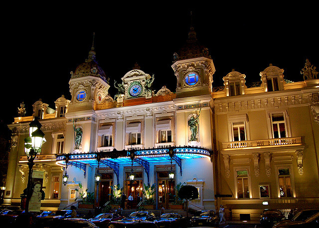 | ♕ |  Casino at night - Monte Carlo, Monaco  | by © Brent Scheneman