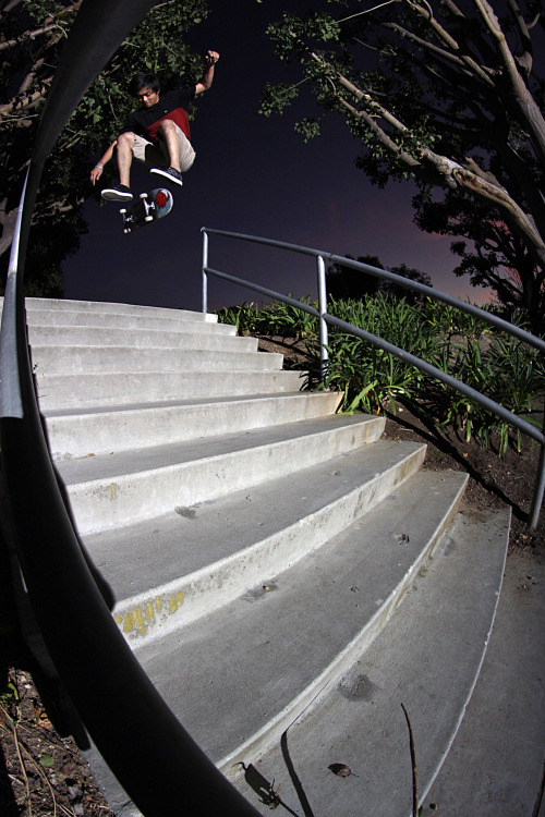 randynakajima:  Jason Nguyen: Nollie Heelflip - Los Angeles, Ca Photo: Randy Nakajima  Hey that's me! haha
