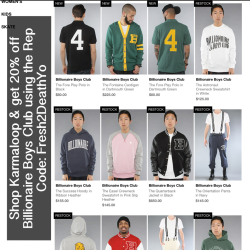 MEN! Shop Billionaire Boys Club ( BBC ) at Karmaloop.com & get 20% off today using Rep Code: Fresh2DeathYo