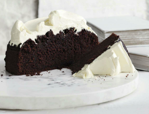Guinness chocolate cake with creme fraiche