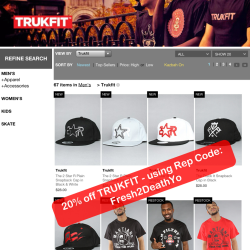 MEN! Shop the new TRUKFIT clothing made by lil' Wayne himself at Karmaloop.com & get 20% off today using Rep Code: Fresh2DeathYo