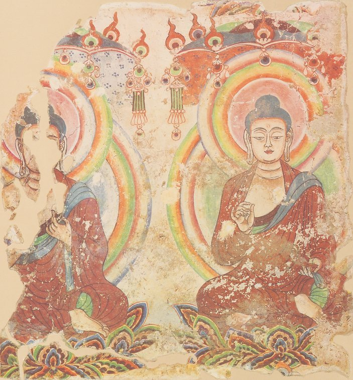 Old Turkic Uighur Buddhist Art, 300-650. Before most Turkic people convert to Islam, was they Religion the Buddhism or Mani.