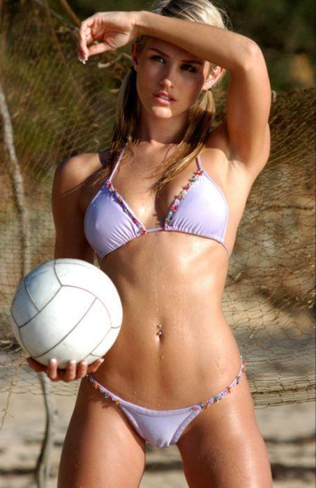 hot beach volleyball