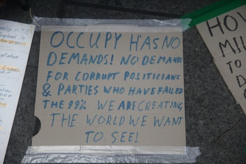 Occupy has no demands! #occupysydney #osyd #omel #oaus #ows Messages of Support for Occupy Sydney