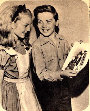 "still-she-haunts-me-phantomwise:  To see more photos of Kathryn Beaumont and Bobby Driscoll's publicity dates, click here (click ""Kathryn and Bobby Driscoll"" or ""Negative Role Model?"")"