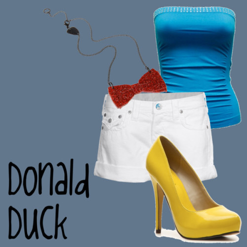 Donald Duck by jessb93 featuring white shorts