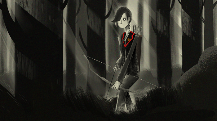 My Hunger Games illustration for an essay about it by Jansen Musico on Pelikula. Clicketh the image for a better look. Click the link for some knowledge about it courtesy of Jansen.