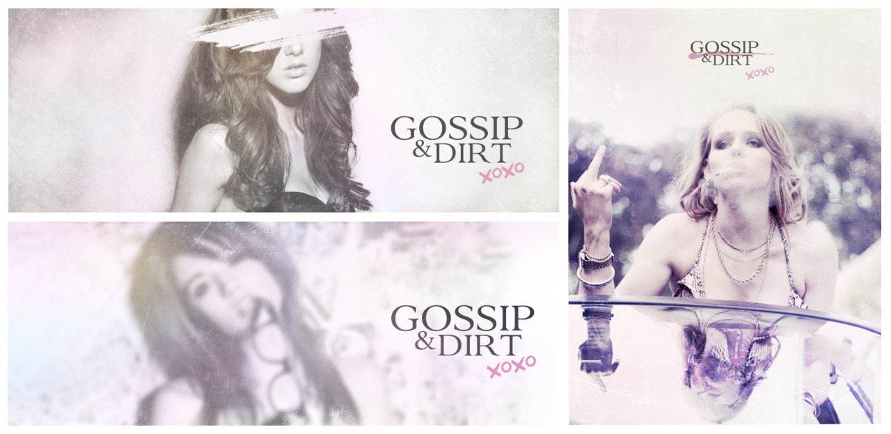 Gossip & Dirt blog design