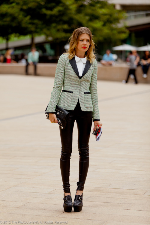 Skinny Pant and Peter Pan Collar, New York Fashion Week S/S 2012