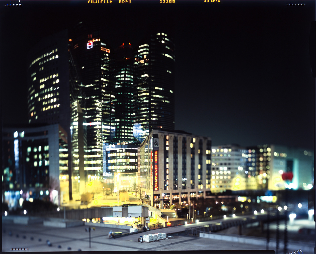 "istillshootfilm:  Film Photography Submission By: xhx   Shot at ""La defense"". Using a Shen Hao field 4x5 large format camera Film used : Provia 100 Here is my tumblr : http://xhx.tumblr.com Xinhui"