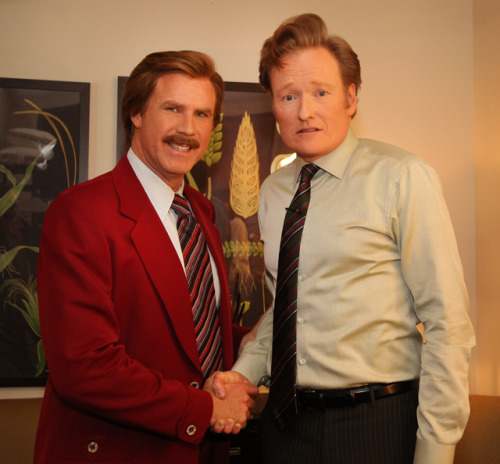 laughingsquid:  Ron Burgundy Announces Sequel to Anchorman Movie on Conan Show