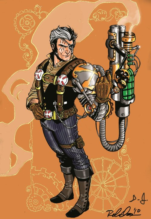 Steampunk Cable by Rebekah Isaacs, color by Damian Jones