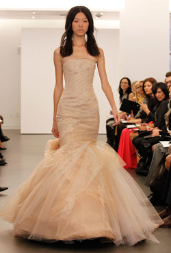 awkwardlifeisawesome:  Vera Wang - Fall 2012 Bridal Runway Photos by John Aquino