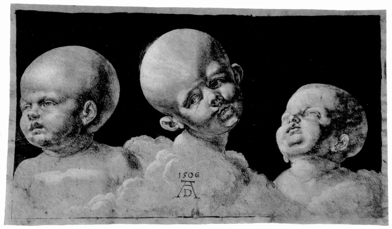 uglyrenaissancebabies:  Albrecht Dürer, Three Children's Heads Jesus fucking Christ, hydrocephalitic much? This is serious nightmare fuel, guys.