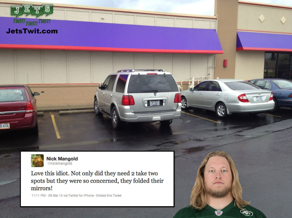 Photo Tweet:  Parking Idiot #NFL #JETS