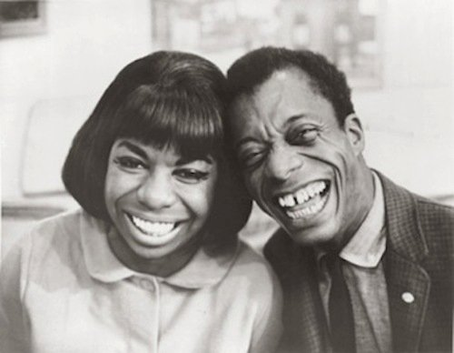 awesomepeoplehangingouttogether:  Nina Simone and James Baldwin