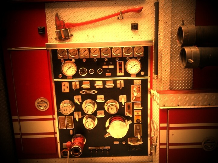 Fire engine gear and panels (Photo by laudano)