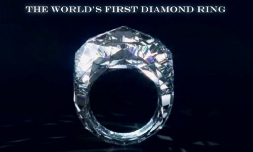 1st ring to be entirely diamond (mother of all rings)