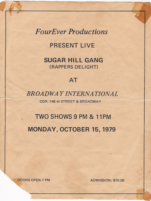 Sugarhill Gang Rapper's Delight