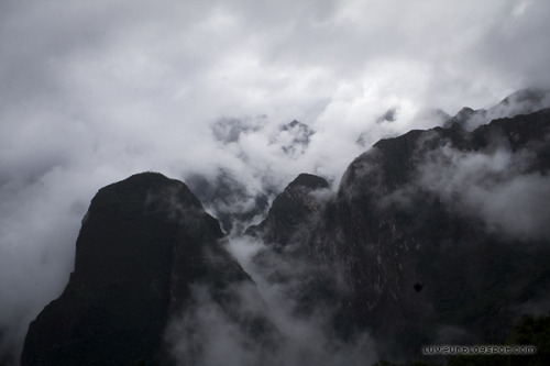 luvieur:  Machu Picchu walk in the early early morning.