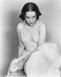 "gorgeous…classic…classy Lupe Vélez (July 18, 1908 – December 14, 1944) was a Mexican film actress. Vélez began her career in Mexico as a dancer, before moving to the U.S. where she worked in vaudeville. She was seen by Fanny Brice who promoted her, and Vélez soon entered films, making her first appearance in 1924. By the end of the decade she had progressed to leading roles. With the advent of talking pictures Vélez acted in comedies, but she became disappointed with her film career, and moved to New York where she worked in Broadway productions. Returning to Hollywood in 1939, she made a series of comedies. She also made some films in Mexico. Vélez's personal life was often difficult; a five year marriage to Johnny Weissmuller and a series of romances, were highly publicized. She is often associated with the nicknames ""The Mexican Spitfire"" and ""The Hot Pepper"".[1]"