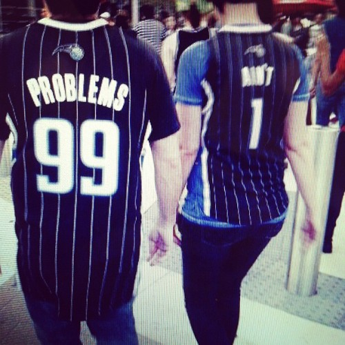 eiknarf:  U_U (Taken with instagram)  The 1% of custom jerseys (because they're actually witty).