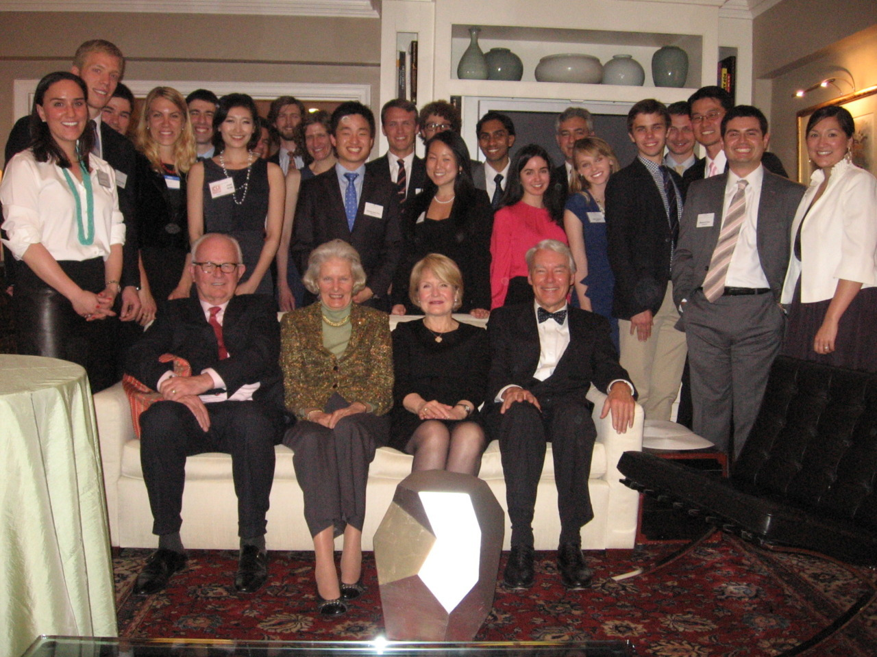 The Bosworths hosted the Fletcher Diplomacy Club last night for a dinner party and a discussion of diplomatic etiquette and protocol. It was an amazing event!