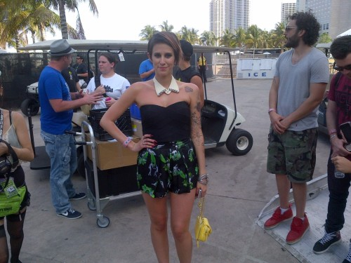 The incredible @DevIsHot looking sassy and fly backstage at @UltraMusic Festival in Miami.