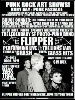 Dude, we're playing with Flipper today. Seriously. 3pm//Wax Trax Denver//FREE//ALL AGES