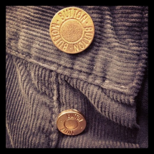 "gqfashion:  The brilliance of @bandofoutsiders. ""button"" and ""little button"" finishing on 5 pocket cords - MS (Taken with instagram)"