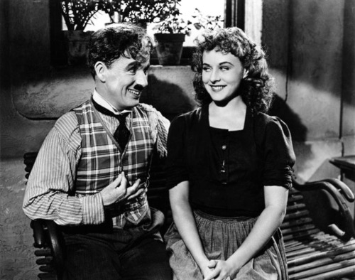 Charlie and the ever lovely Paulette Goddard in The Great Dictator c.1941