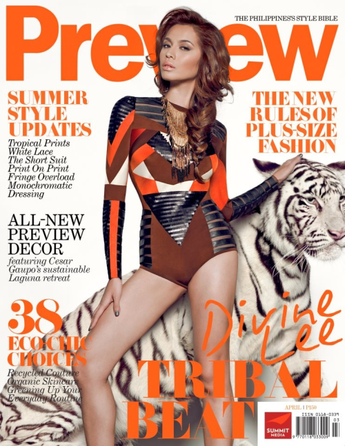 The Becky Icon on the cover of Preview Magazine's April 2012 ish!