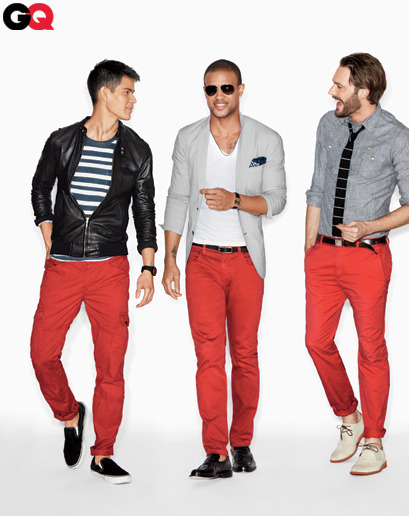 GQ is 3 years late! Was rocking red jeans freshman year gqfashion:  GQ Endorses: Red Pants Forever in blue jeans? Try mixing a little red into your wardrobe.