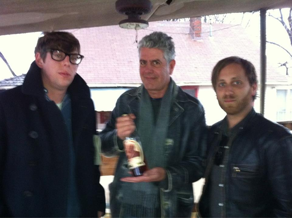 thisisablogabouttheblackkeys:  Remember when this happened? Check out No Reservations on April 9th!