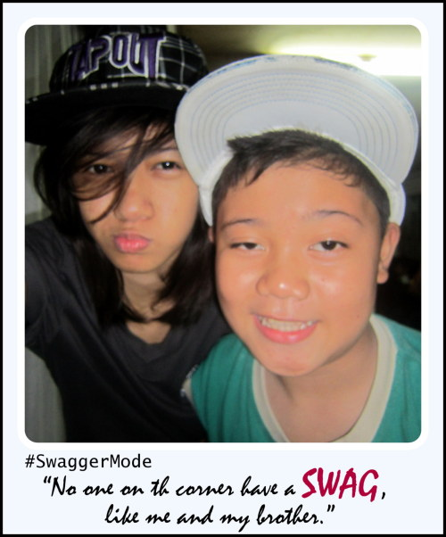 #SwaggerMode with 'lil bro