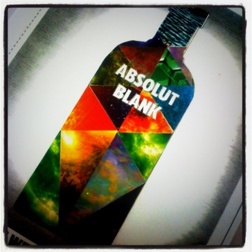 #absolut #vodka #campaign #design #textures #space #drink #bottle #instagram #instalove  (Taken with instagram)