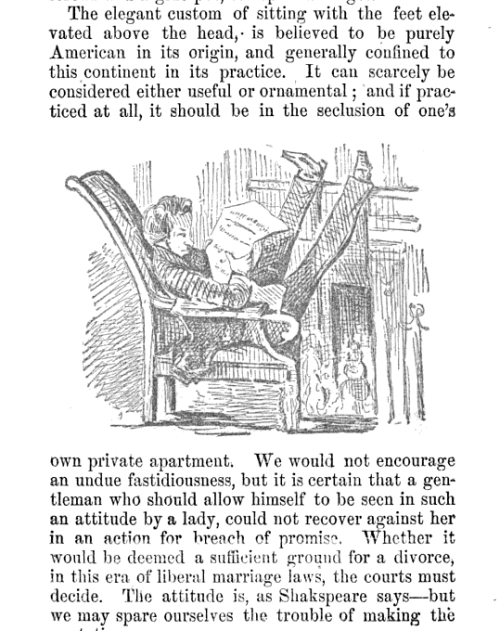 beatonna:  dang this 1855 book on manners is harsh on the good ol' American Way Of Sitting