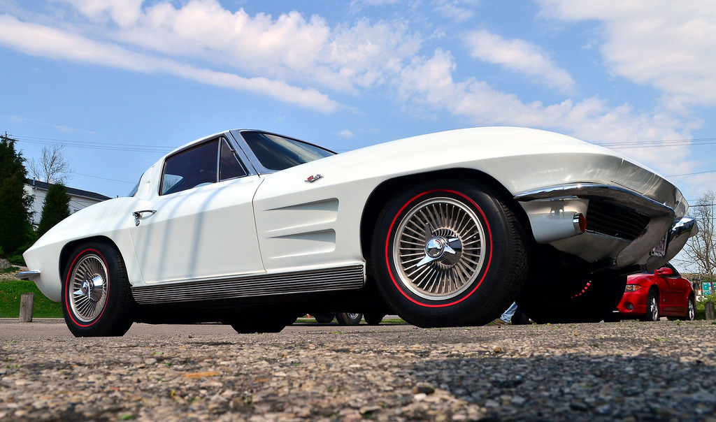 motoriginal:  '63 Chevrolet Corvette (C2) Split Window Coupe - White Dove