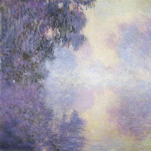 crowcrow:  Claude Monet, Arm of the Seine near Giverny in the Fog (1897)