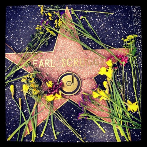 Hollywood Blvd says goodbye to Earl Scruggs 1/6/24 - 3/28/12 (Taken with instagram)