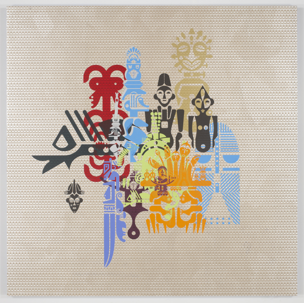 Ryan McGinness, Geometric Primitives Painting 1, 2012 // acrylic on canvas // 72 x 72 inches // Published by Pace Editions, Inc.