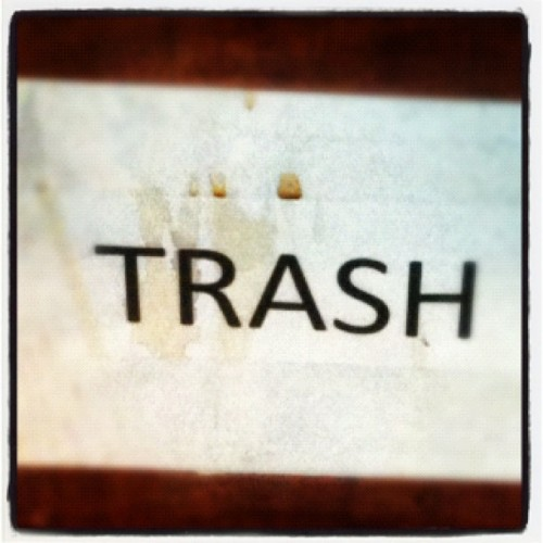 #marchphotoaday 28/31 trash (Taken with instagram)