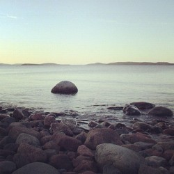 Sweden, High Coast camping #Sweden #high #coast #camping #ocean #rocks #sunset