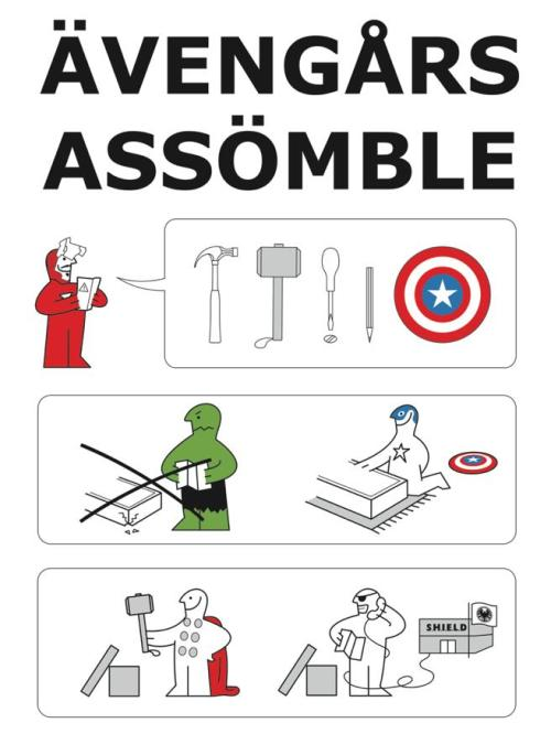 My Avengers / Ikea T-shirt design is in an album of potential prints over at the RIPTApparel.com Facebook page so if you think it should get printed feel free to let RIPT know by 'liking' it!