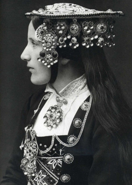 Norwegian Bride  Photograph by Per Braaten, 1935. (via w5ran)