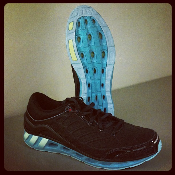 New ventilated running shoe from @adidasrunning: Climacool Seduction. Excited to test! (Taken with instagram)