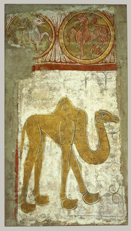 arthistoryeveryday:  Wall Painting of a Camel from the hermitage of San Baudelio de Berlanga (12th century)