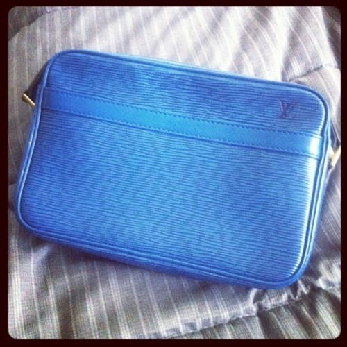Vintage #louisvuitton epi 😁 ready for spring now 🐳💙 (Taken with instagram)