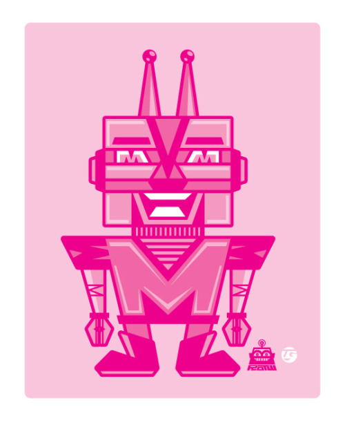 M-boto is in the Pink! This is #2 in the CMYK bot series.