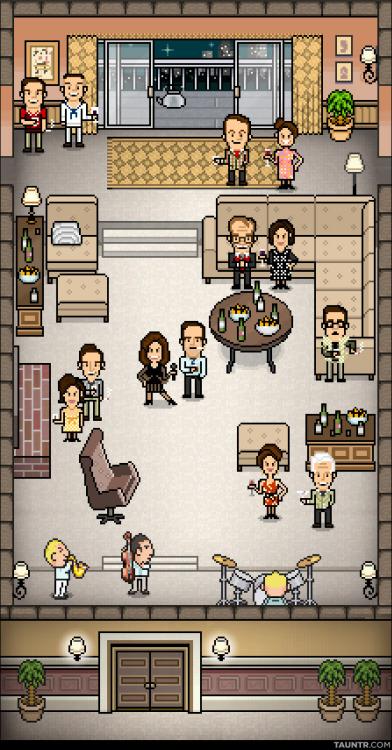 jonnyetc:  Mad Men 16-bit pixel art collaboration with the great Jim Stampede for Tauntr.com